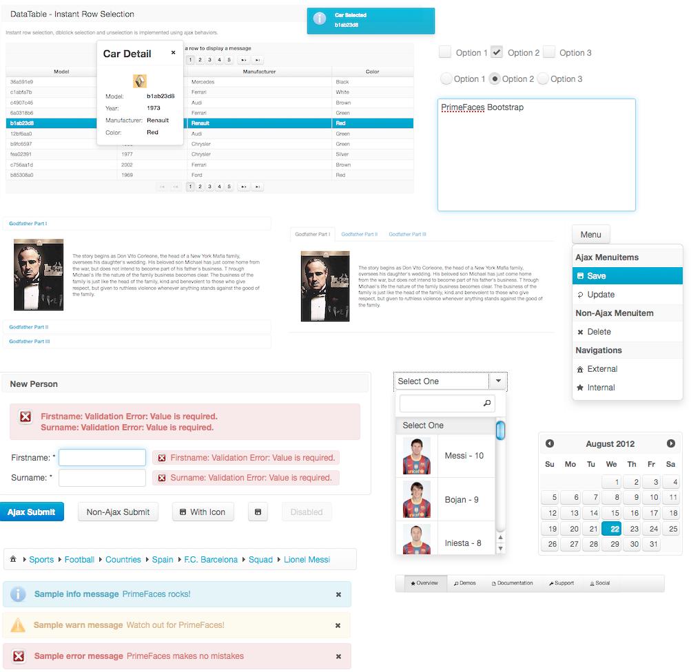 Twitter Bootstrap Theme | PrimeFaces
